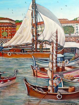 Rose Calvino - Retour de peche Port de Nice