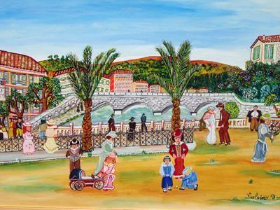 Rose Calvino - Quai des palmiers Nice 1900