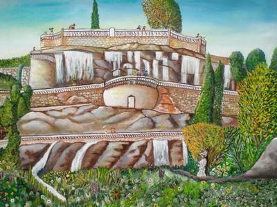 Rose Calvino - cascade du chateau nice 1900