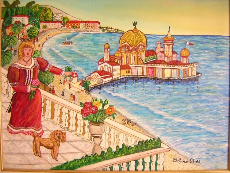 Rose Calvino - Balcon du Rhul vue casino de la jetee 1900