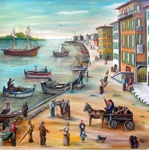 Rose Calvino - La Rade de Villefranche sur Mer (1895)