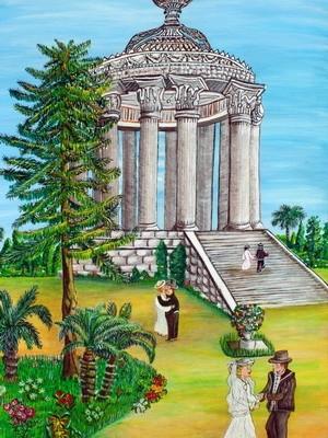 temple de diane( de l'amour) cote d'azur nice 1900