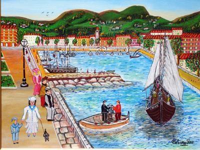 Rose Calvino - Le port de nice 1900