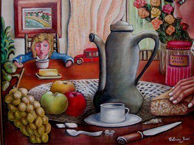 Rose Calvino - le petit dejeuner