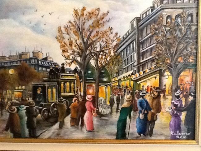 Rose Calvino - Paris 1900 (place haussmann) le printemps